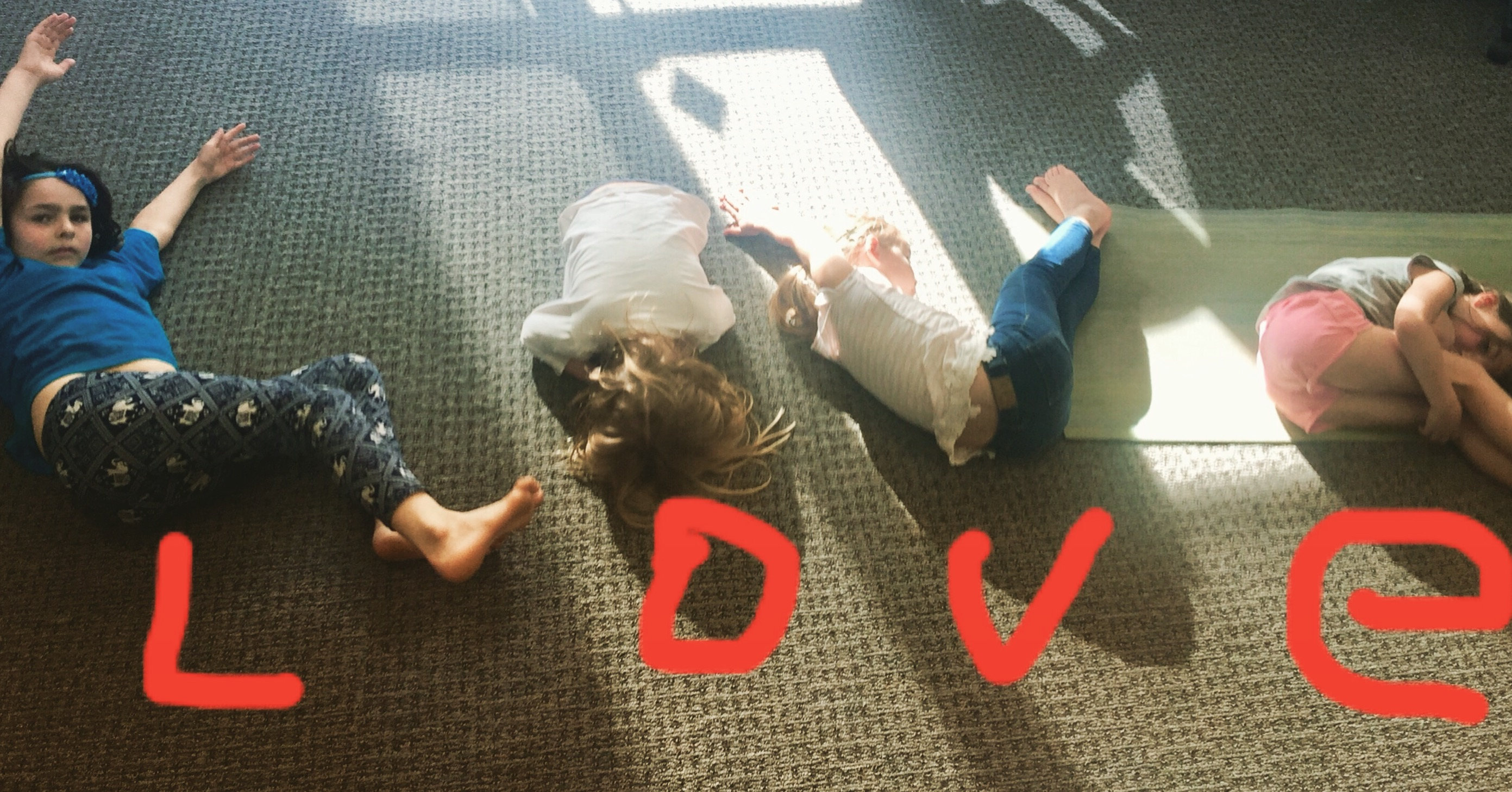 Kids yoga love